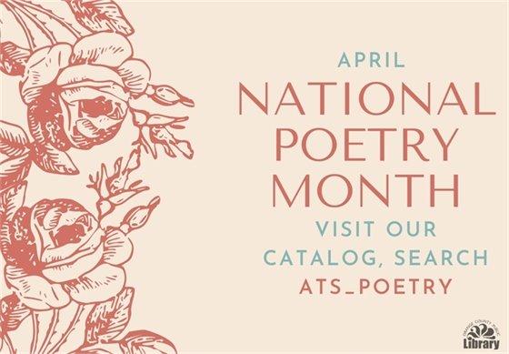 April is national poetry month. For adults and teens. Abril es el Mes Nacional de la Poesía, Adultos y Adolescentes