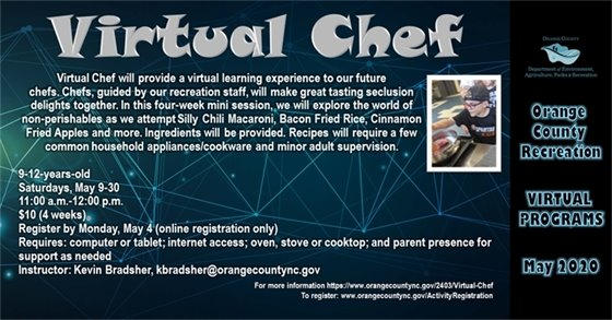 Orange County Recreation Virtual Chef