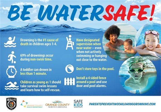 Be Water Safe graphic
