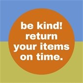 multicolored icon asking you to return to items on time.