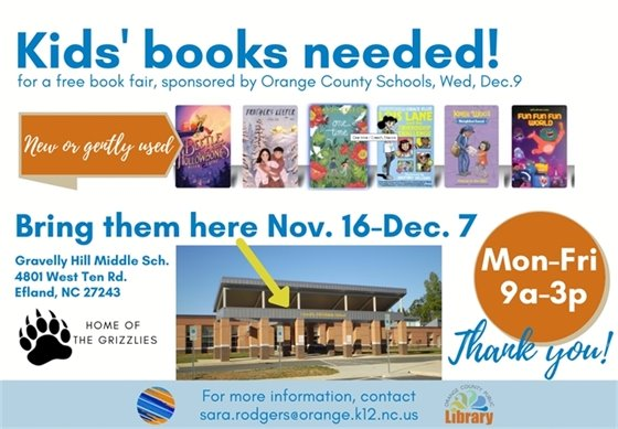 book drive for kids in orange county