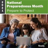 2021 National Preparedness Month Logo - Prepare to Protect