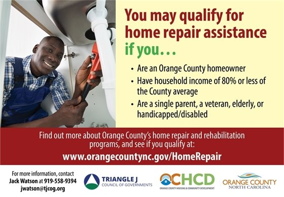 Orange County Home repair assistance graphic