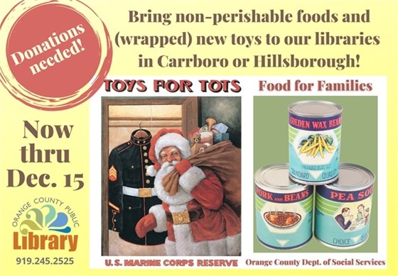 DSS Toy and Food Drive graphic