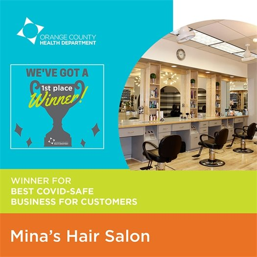 1st place winner for best COVID-safe business for customers: Mina's Hair Salon