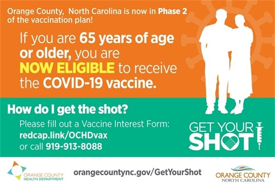 If you are 65 years of age or older, you are now eligible to receive the COVID-19 vaccine