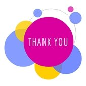 """""""Thank You"""" in colorful bubbles"""