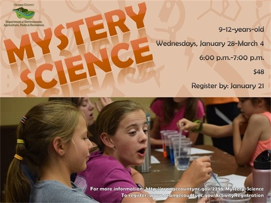 Mystery Science, ages 9-12 years old, Wednesdays January 28-March 4