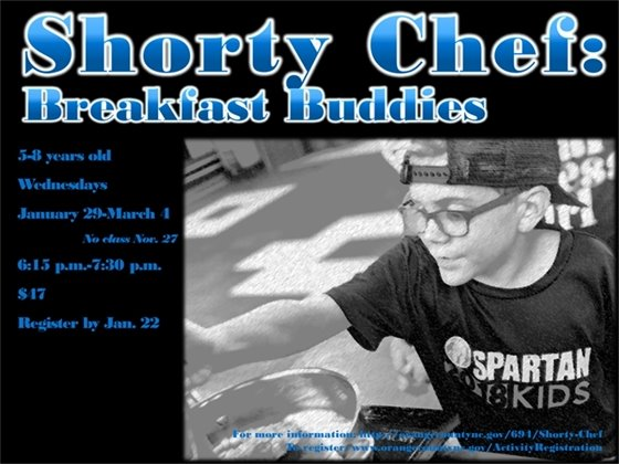 Shorty Chef, Ages 5-8 years old, Wednesdays, January 29-March 1