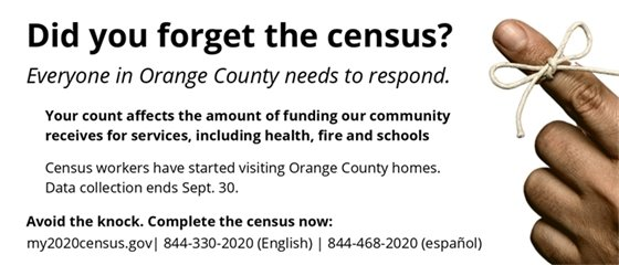 did you forget the census? Click on the image to find out more.