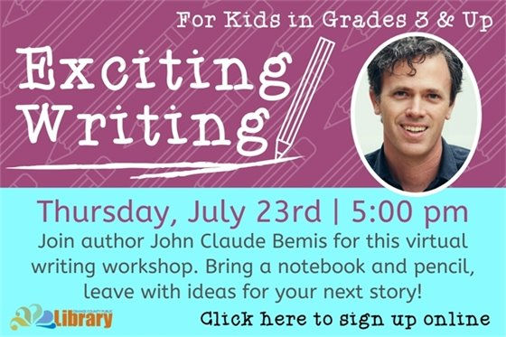 Exciting writing class with John Bemis