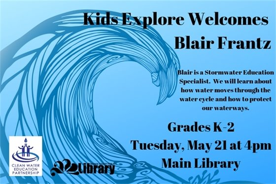 Ad for Kids Explore program at Main Library