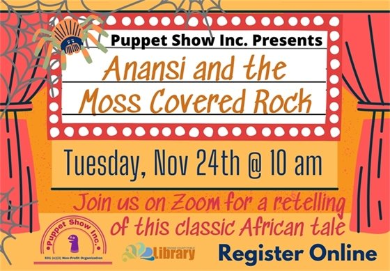 Anansi and the Moss Covered rock graphic