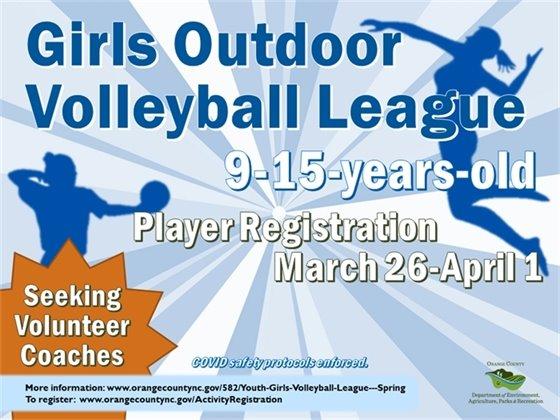 Girls volleyball graphic