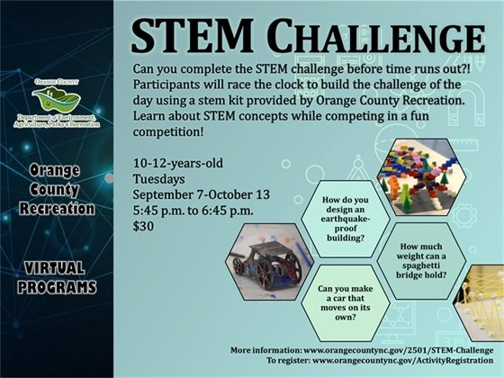 STEM Challenge - ages 6-9-years-old