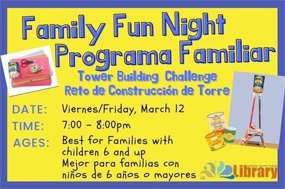 Family Fun Night graphic