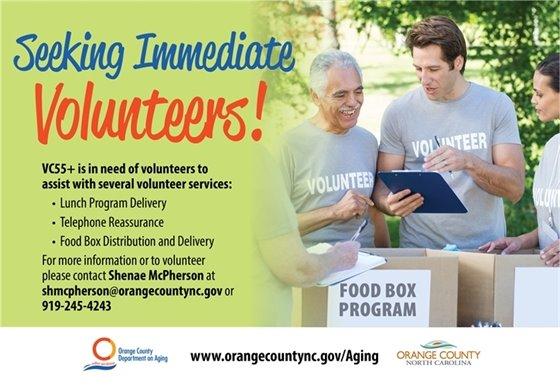 VC55+ volunteer graphic