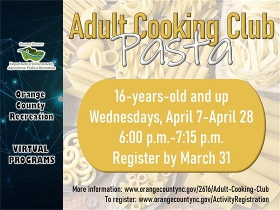 Adult Cooking Club - ages 16-years-old and up