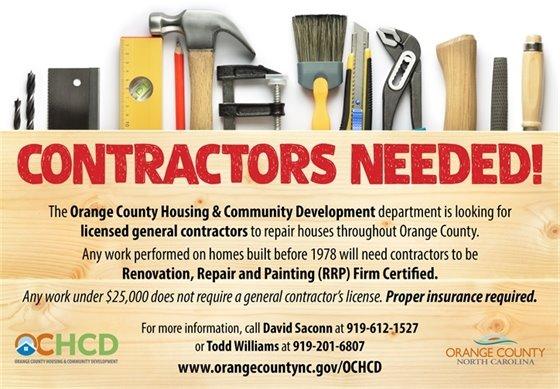 Contractors needed graphic