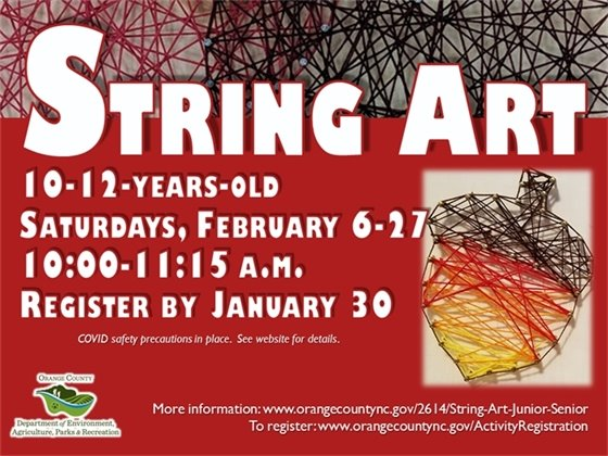 String Art Senior - ages 10 to 12-years-old