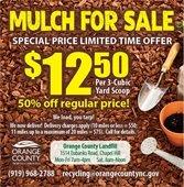 50% off Mulch Sale Ending 9/12/20