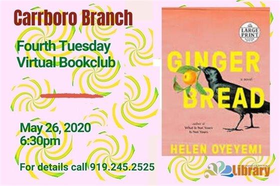 Carrboro Branch Virtual Book Club graphic