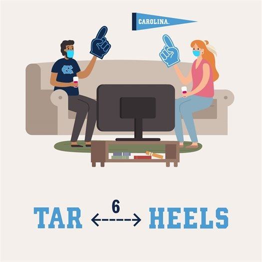 Ways to Cheer on Our Tar Heels Safely this Football Season