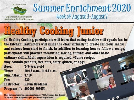 Healthy Cooking Junior - Week of August 3-August 7