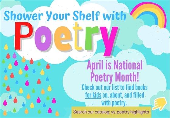 April is National Poetry Month.  Birth to Grade 5 . Abril es el Mes Nacional de la Poesía. Desde el nacimiento al 5to grado