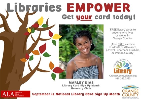 National Library Card Sign-up Month graphic