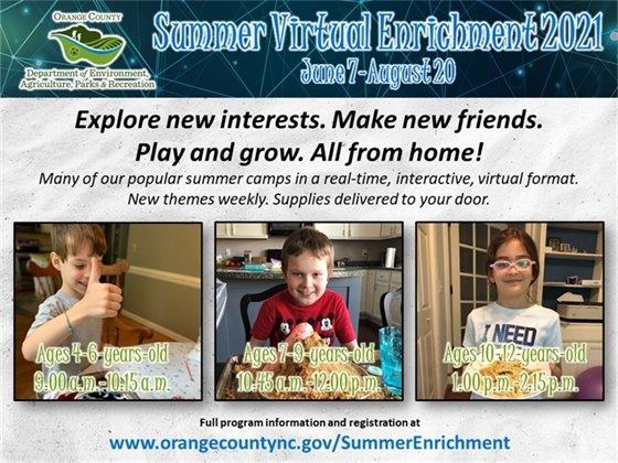 Summer Virtual Enrichment now open for registration.