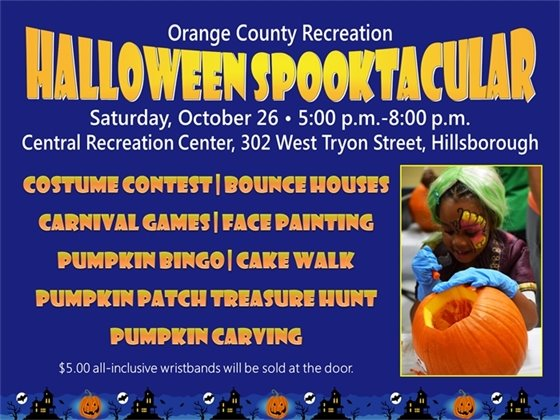 Halloween Spooktacular, Saturday, October 26, 5:00 p.m.-8:00 p.m.
