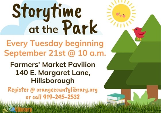 Storytime in the Park graphic