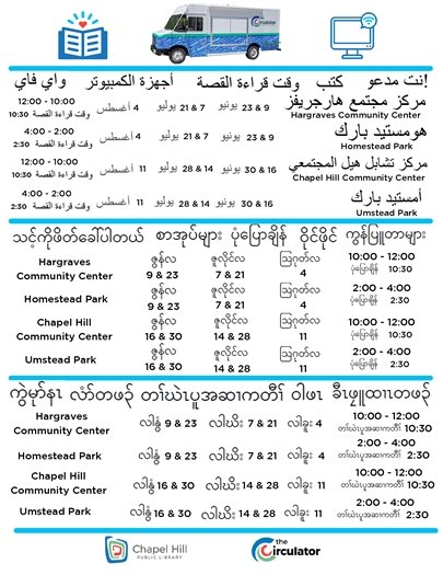 Flyer in multiple languages
