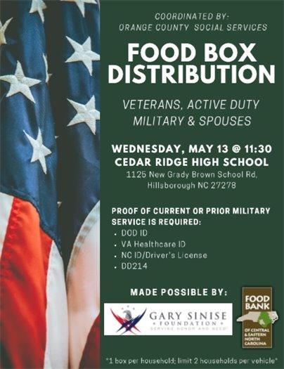 DSS Food Distribution Flyer