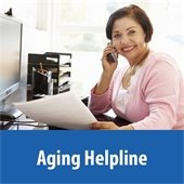 Aging helpline graphic