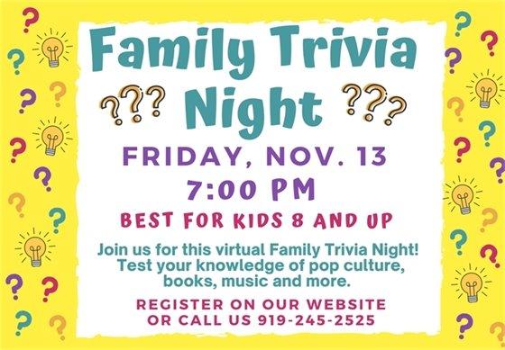 Family Trivia Night Graphic