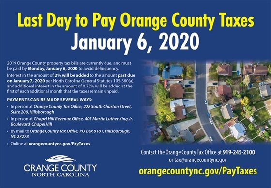 Orange County Tax Payments graphic