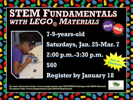 STEM Fundamentals, Ages 7-9 years old, Saturdays, January 25-March 7