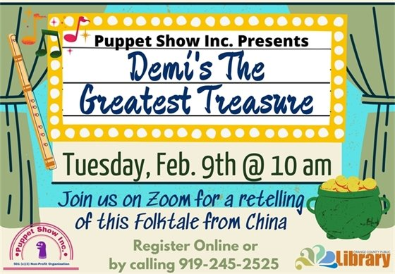 Demi's The Greatest Treasure Puppet Show graphic