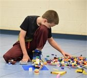 Child with LEGOs in Engineering