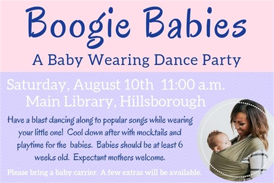 Baby Wearing Dance Party image. Mom and baby pictured
