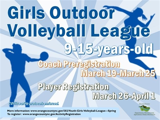 Girls Youth Volleyball League - Ages 9-15