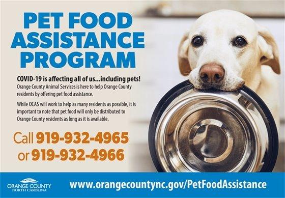 Pet Food Assistance Program graphic