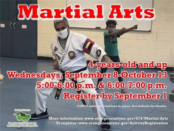 Martial Arts - ages 4-years-old and up