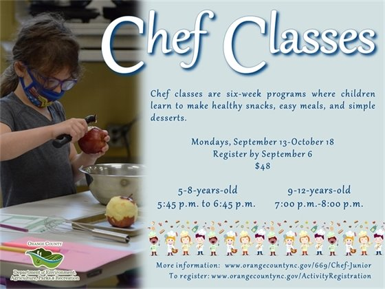 Chef Classes for ages 5-12-years-old