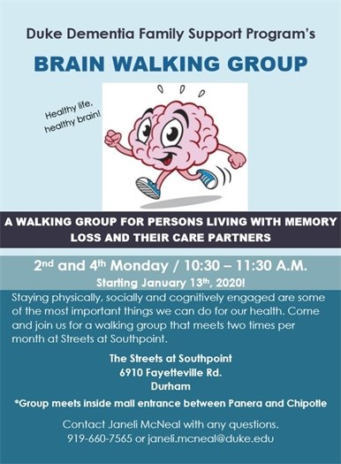 Duke Dementia Family Support Program's Brain Walking Group