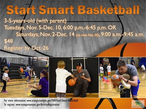 Start Smart Basketball register by October 26
