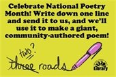 image asking folks to participate in a community poetry writing exercise