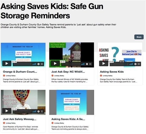 Asking Saves Kids: Safe Gun Storage Reminders